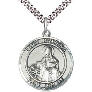 Sterling Silver St Dymphna Pendant